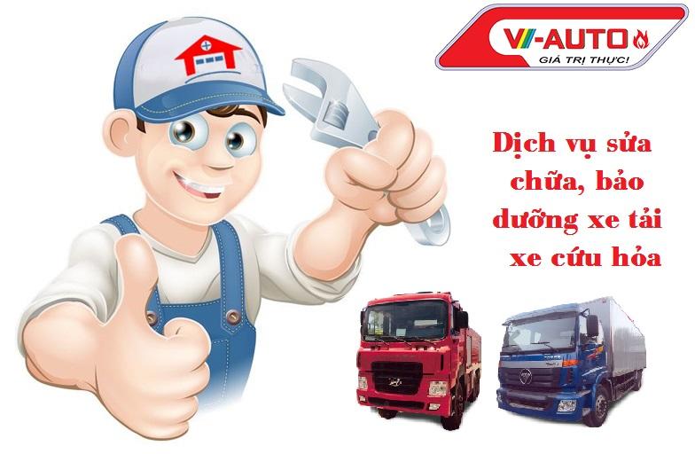Dịch vụ sửa chữa, bảo dưỡng  ô tô cứu hỏa, ô tô tải