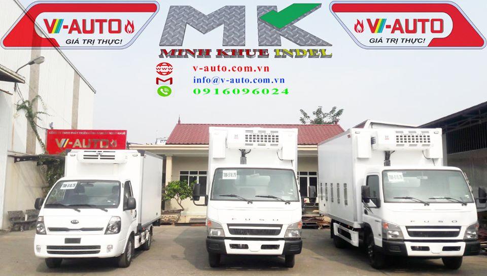 Xe ô tô tải đông lạnh, xe ô tô tải chở gia cầm nghiệm thu cuối năm - Minh Khuê Auto