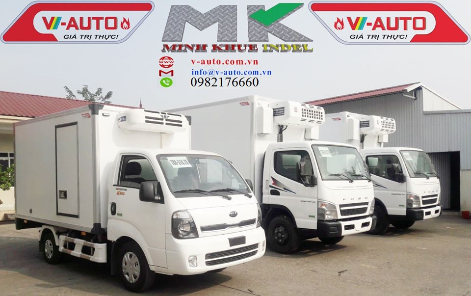 Dịch vụ đóng thùng xe tải đông lạnh - Minh Khuê