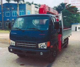 Xe tải gắn cẩu 5 tấn MIGHTY DONGVANG HD700 3030 kg/2,7 m và 680 kg/7,51 m