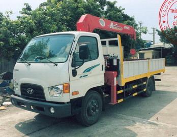 Xe tải gắn cẩu 5 tấn HYUNDAI NEW MIGHTY 110S 3030 kg/2,4 m và 250 kg/12,3 m