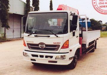 Xe tải gắn cẩu 6 tấn HINO FC9JLSW 3030 kg/2,7 m và 680 kg/7,51 m