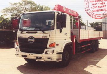Xe tải gắn cẩu 11 tấn HINO FL8JW7A  5050 kg/2,5 m và 500 kg/13,14 m