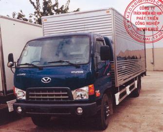 Xe tải thùng kín 4 tấn DOTHANH MIGHTY HD120SL