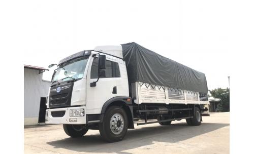 Xe ô tô thùng mui bạt Faw 8 tấn thùng dài 8m
