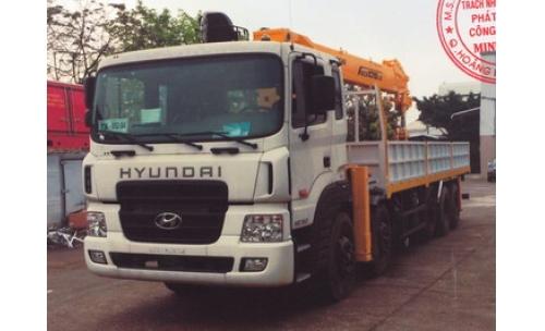 Xe tải gắn cẩu 20 tấn HYUNDAI HD360