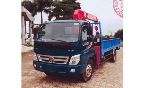 Xe tải gắn cẩu FOTON THACO 3030 kg/2,6 m và 480 kg/9,81 m