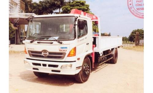 Xe tải gắn cẩu 7 tấn HINO FG8JPSH 3030 kg/2,6 m và 480 kg/9,81 m